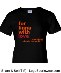 For Liana Ladies Cut- Black Design Zoom