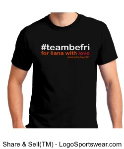 team be fri Unisex Tee- Black Design Zoom