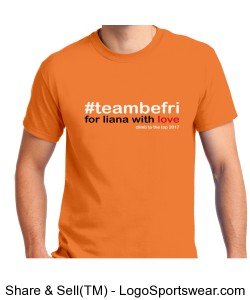 team be fri Unisex Tee- Tangerine Design Zoom