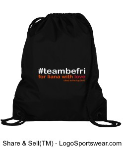 team be fri Drawstring Sport Pack Design Zoom